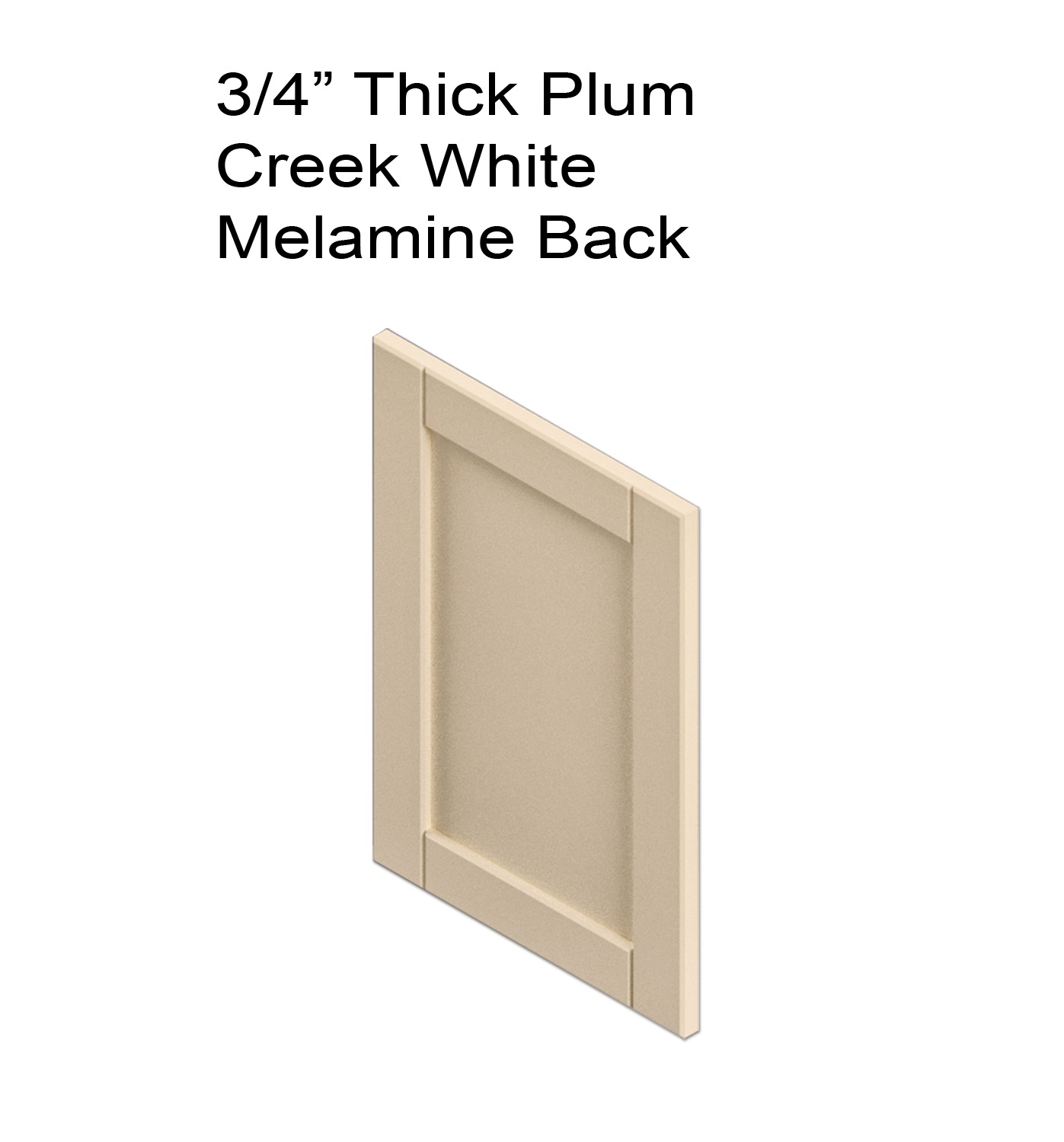 Thick Plum Creek White Melamine Back